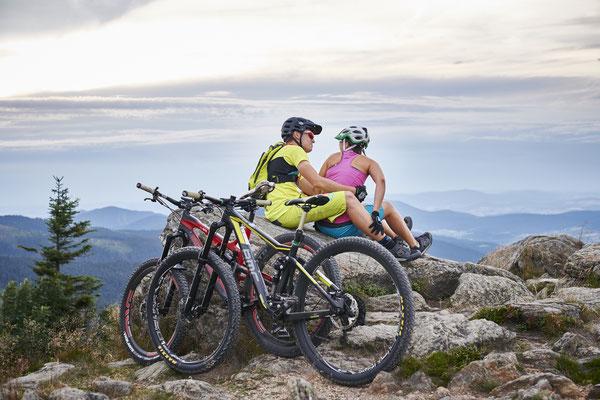 Bikerpause am Großen Arber