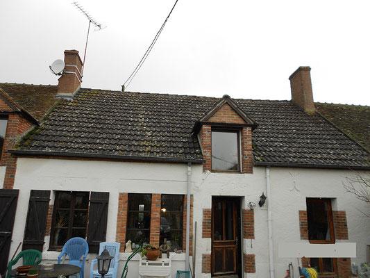 Rénovation de toiture maison ancienne, avant