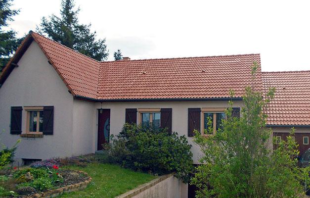 Rénovation de toiture pavillon, après