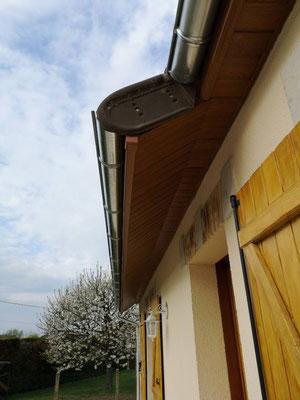 Finitions boite de toit et gouttière