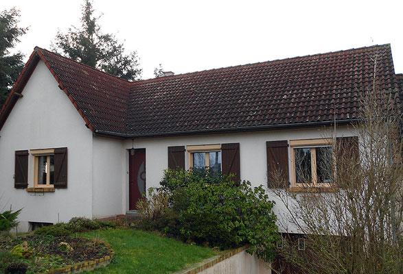 Rénovation de toiture pavillon, avant