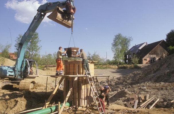Bau des Teichmönchs