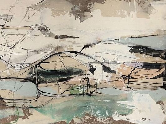 o.T. , Collage auf MDF, 24x30 cm