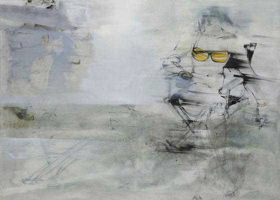 o. T. 100 x 140 cm, Acryl / Tusche, Kohle auf Leinwand