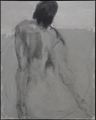 o.T. 100 x 80 cm, Acryl / Tusche auf Leinwand 2019, verkauft