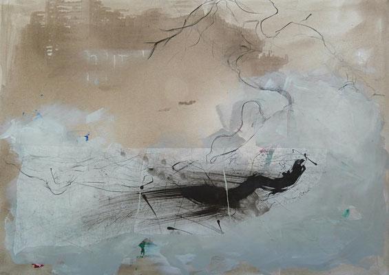 """""""Ort der unbegrenzten Möglichkeiten"""", 100 x 140 cm, verkauft"""
