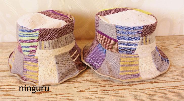美しい手織の生地と 着物生地との組み合わせが 素敵!
