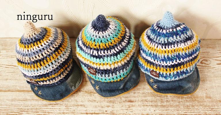 なんとこれは三つ子の息子さんへのオーダー帽子!三人そろって歩いたら文句なし!