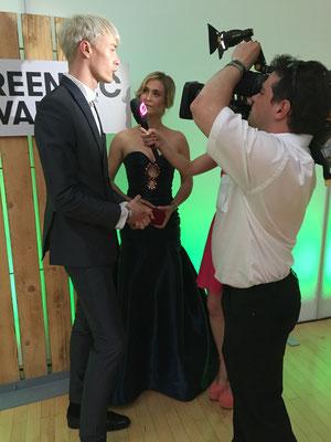 Interview Vico Mulsow und Lea Marlen Woitack beim GreenTec Award 2016