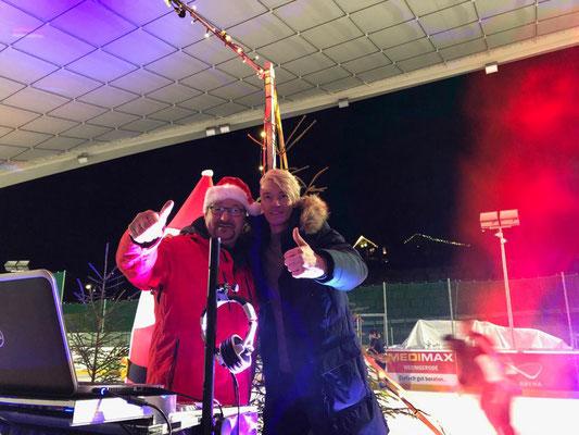Vico Mulsow bei der Eisdisco in der Feuerstein Arena