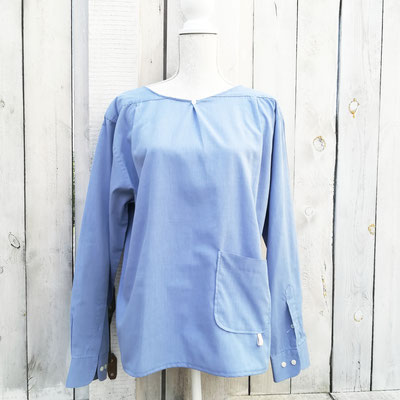 Herrenhemd upcycled zum Damenshirt, MISS CAPTAIN COOK