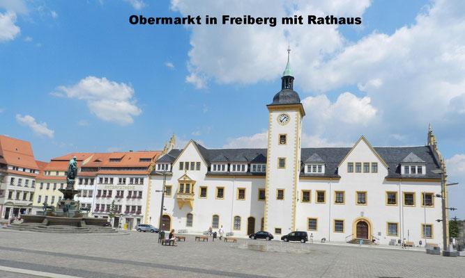 Zentrum von Freiberg mit Obermarkt