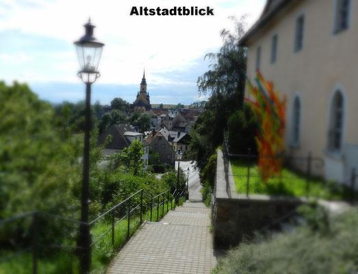 Blick in die Altstadt von Oederan