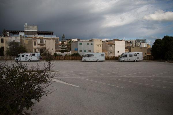 Parkplatz in Selinunte