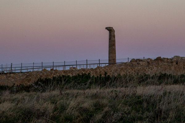 Eine Säule vom Tempel der Hera Lacinia