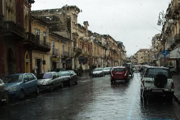 Sizilien bei Regen