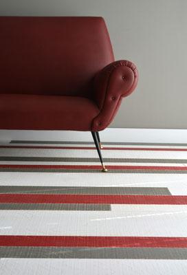 Wandverkleidung Vintage, Rockin' White, Red & Grey
