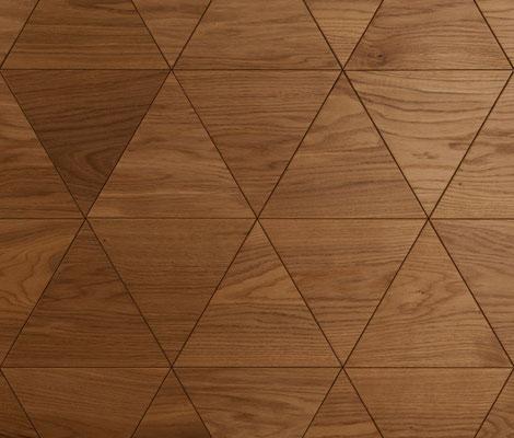 Wandverkleidung - Wand-Design Exklusiv, flache Dreiecks-Elemente, Farbton Natur