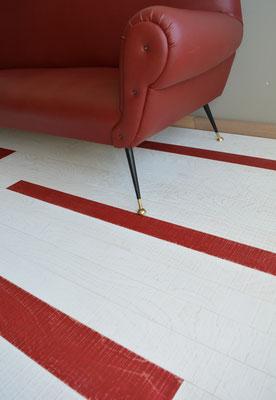 Wandverkleidung Vintage, Rockin' White & Red
