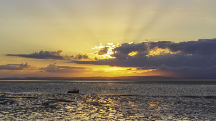 Sunset over Morecambe Bay, England