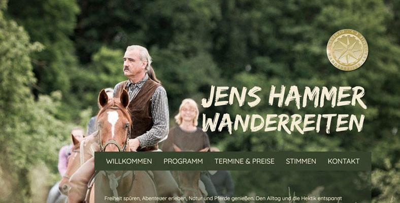 Webseite Jens Hammer, Wanderreiten, RossFoto Dana Krimmling