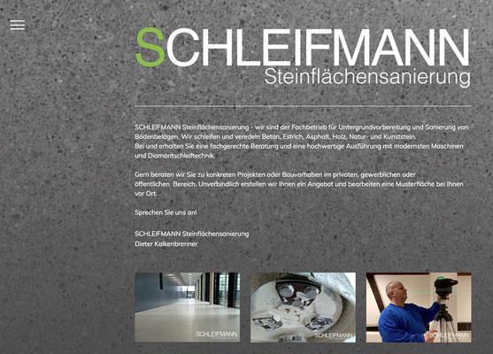 Webseite Schleifmann Steinflächensanierung, RossFoto Dana Krimmling