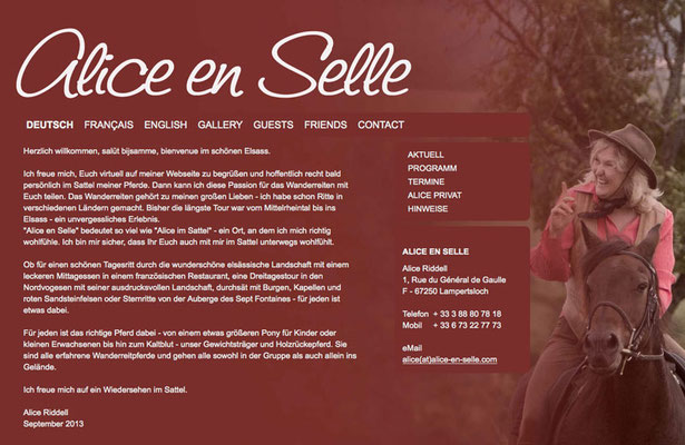 Webseite Alice en Selle, RossFoto Dana Krimmling, Pferdefotografie, Fotografie, Homepage, Webseiten erstellen
