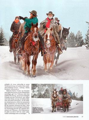Rossfoto, Dana Krimmling, Fotografie, Pferdefotografie, Wanderreiten, Schnee, Westernreiten, Freiberger Pferde, Kavallerie, Reiten