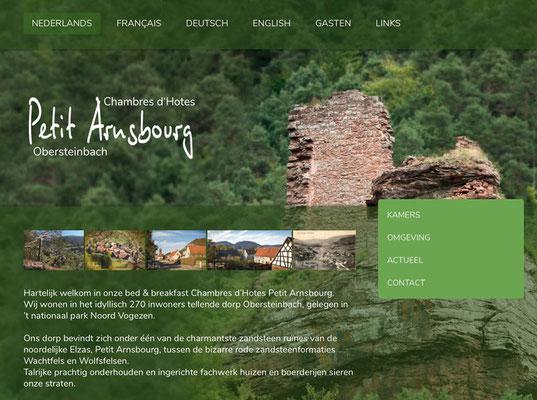 Webseite Pension Petit Arnsbourg, RossFoto Dana Krimmling
