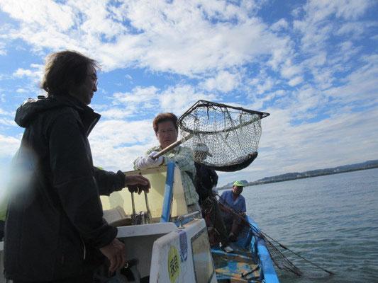 鷲津の漁師さん達、初めて会ったような気がしません、、、、