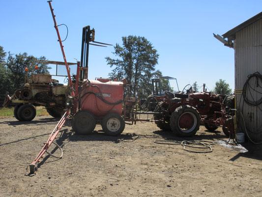 農業機械も自社で修理
