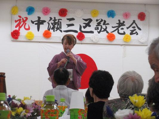 津軽じょんがら流れ唄を歌う麻倉由美