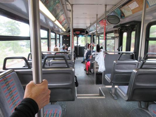 各ポイントを回るには無料のシャトルバスが便利でした。