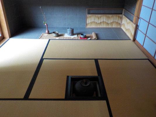 茶室も展示空間の一部です。
