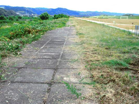 グランドが整備されたので草刈の面積が減りました