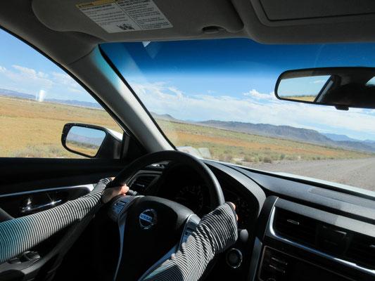 カミさんの運転もここでは安心、、、、、対向車ないですから。