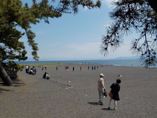 あいにく富士山は見えません。