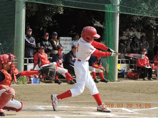 タイムリー2塁打!