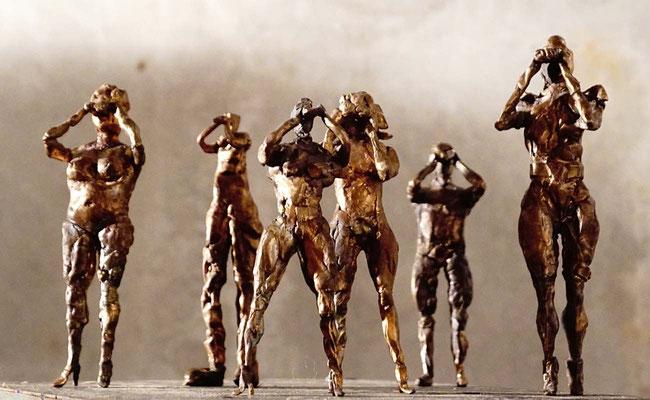 arte figura | Les Spectantes (Bronzefigur) | Bronze massiv, 11-18 cm hoch
