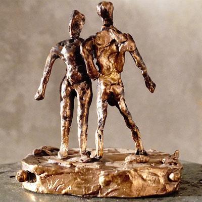arte figura | Doublet (Bronzefigur) | Bronze massiv, 22 cm hoch