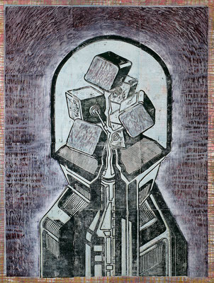 Unter der Glocke II - 2017 - 170 x 130 cm