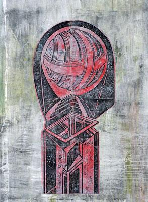 Der Späher (Funkdienst) II - 2018 - 170 x 130 cm