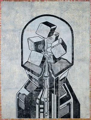 Unter der Glocke III - 2017 - 170 x 130 cm