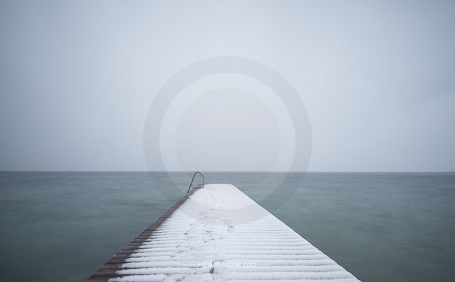 """""""steg im winter""""- weißenbach attersee s- ART edition - size L - picture ID 205509"""