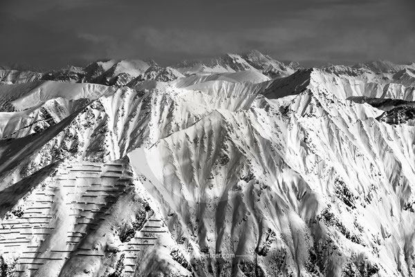 mountains - sportgastein - picture ID 1580 b&w ART