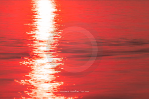 """sunset V"" - structures water - attersee - size L - picture ID 203570"