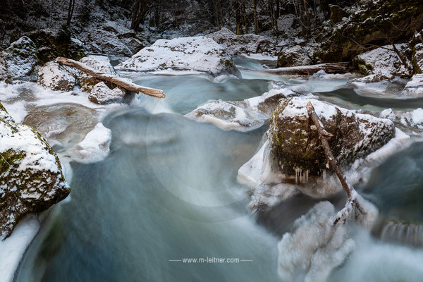 """frozen river I"" - pesenbachtal - ART edition - size XL - picture ID 221018"