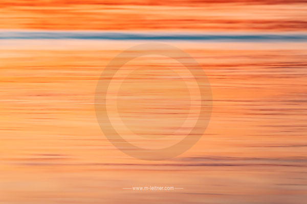 """sunset I"" - structures water - attersee - size L - picture ID 203499"