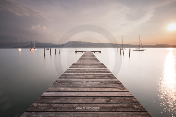"""""""abends am steg"""" - weyregg attersee - ART editon - size L - picture ID 202690"""