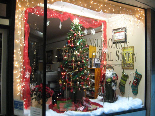FCGS Christmas window display, Dec. 2016